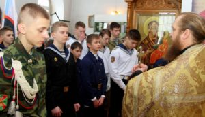Молебен перед началом Ушаковских сборов